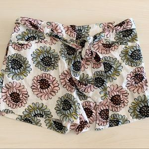 Loft | Tie Waist Floral Shorts